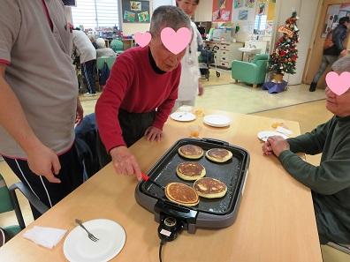クリスマス パンケーキ作り